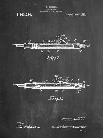 Houston Fountain Pen Company 1920 Patent