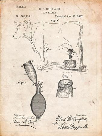 Cow Milker 1887 Patent