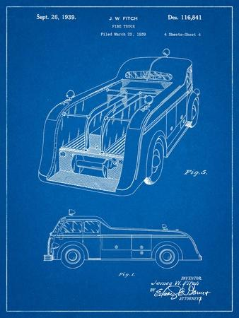 Firetruck 1939 Two Image Patent