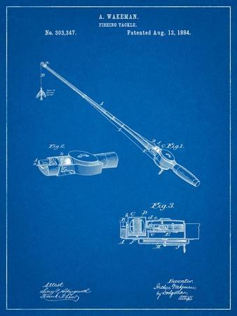 Fishing Rod and Reel 1884 Patent