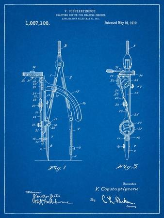 Drafting Compass 1912 Patent