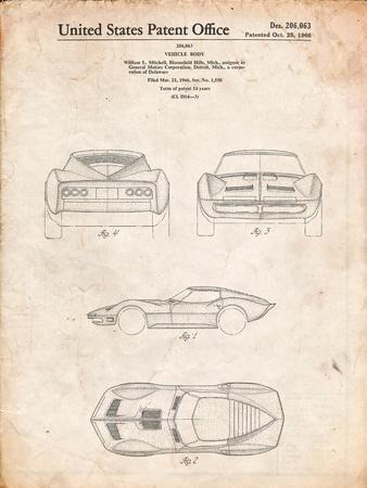 1966 Corvette Mako Shark II Patent