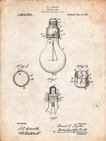 Electric Lamp Patent