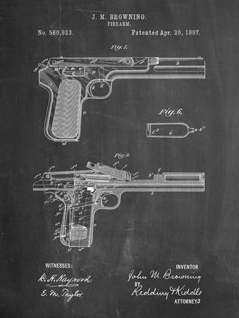J.M. Browning Pistol Patent
