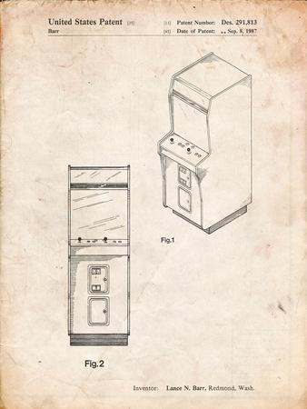 Arcade Game Cabinet Front Figure Patent