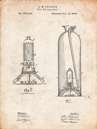 Antique Fire Extinguisher 1880 Patent