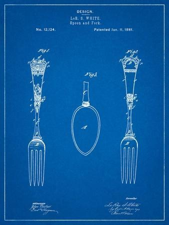Antique Spoon and Fork Patent