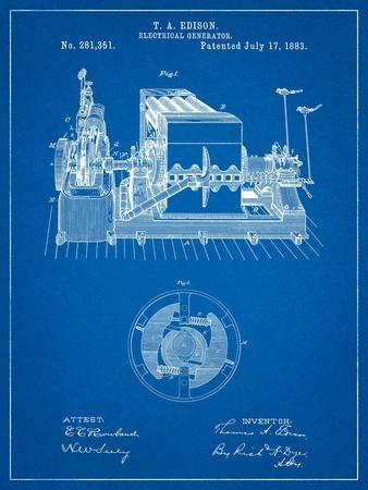 Edison Electrical Generator Patent Art