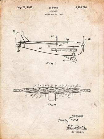 "Ford Tri-Motor Airplane ""The Tin Goose"" Patent"