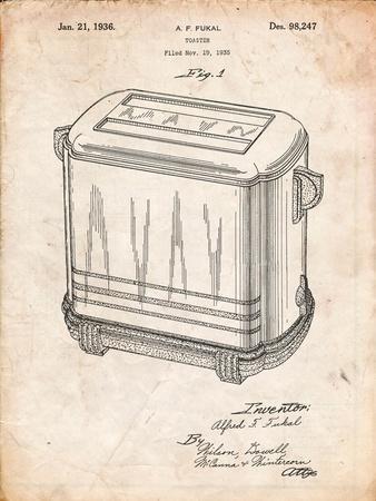 Toaster Patent Art