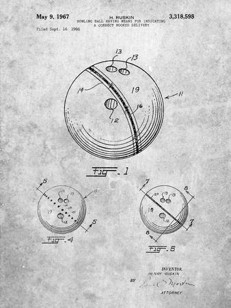 Bowling Ball 1967 Patent