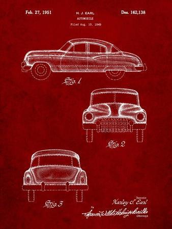 Buick Super 1949 Car Patent