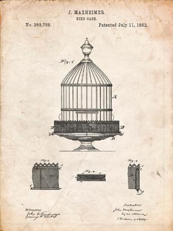 Vintage Birdcage Patent