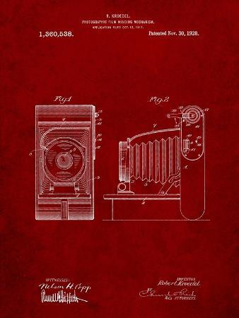 Camera Film Winding Patent Print
