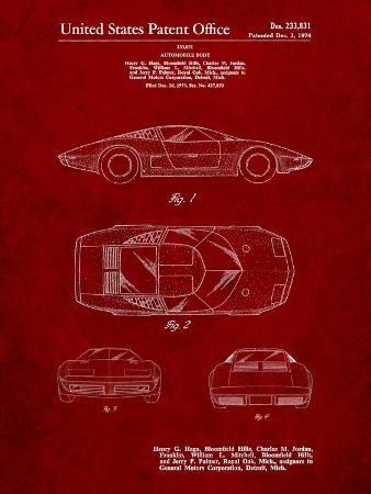 Chevrolet Aerovette Concept Car Patent