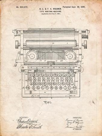 Underwood Typewriter Patent