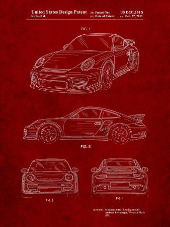 Porsche 911 with Spoiler Patent