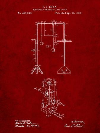 Portable Gymnastic Bars 1890 Patent
