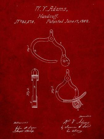 Vintage Police Handcuffs Patent
