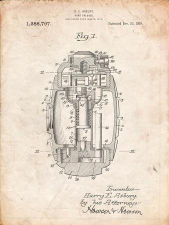 Hand Grenade World War 1 Patent