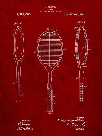 Vintage Tennis Racket Patent