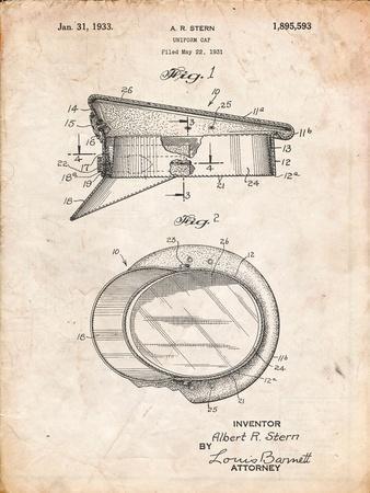 Police Hat 1933 Patent