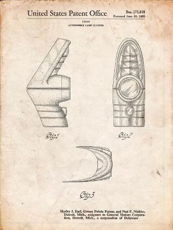 Harley J. Earl Concept Tail Light Patent