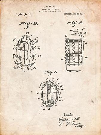 Hand Grenade 1915 Patent