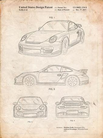Porsche 911 with Spoiler Patent