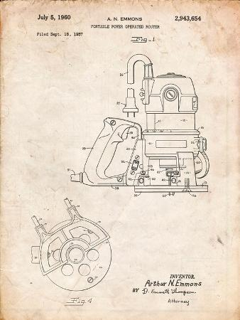 Porter Cable Hand Router Patent