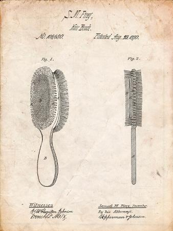 Vintage Hair Brush Patent