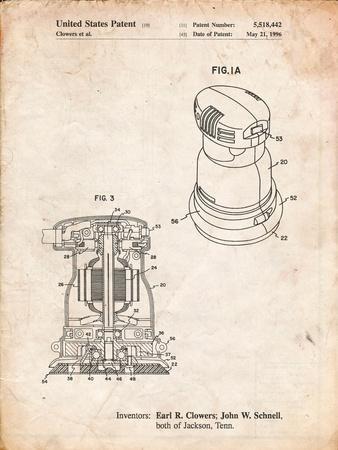 Porter Cable Palm Grip Sander Patent