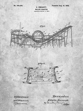 Coney Island Loop the Loop Roller Coaster Patent