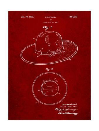 Wide Brimmed Hat 1937 Patent