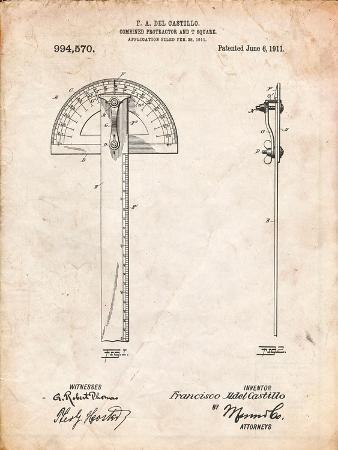 Protractor T-Square Patent