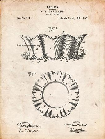 Haviland Salad Bowl 1893 Patent