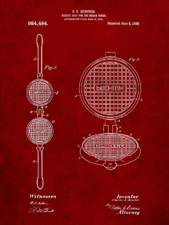 Waffle Iron for Ice Cream Cones 1909 Patent