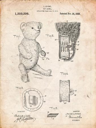Whistle Teddy Bear 1919 Patent