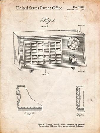 Vintage Table Radio Patent