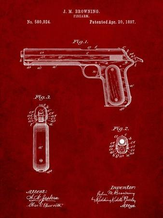 Colt Automatic Pistol of 1900 Patent