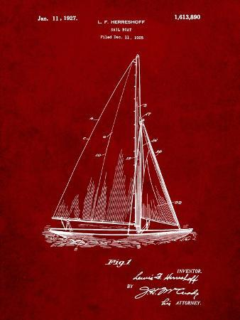 Herreshoff R 40' Gamecock Racing Sailboat Patent