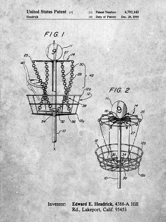 Disk Golf Basket 1988 Patent