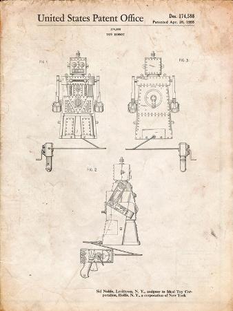 Robert the Robot 1955 Toy Robot Patent