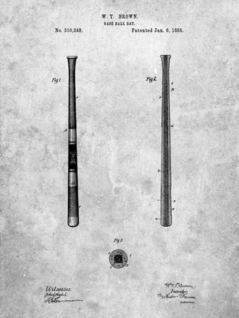 Antique Baseball Bat 1885 Patent