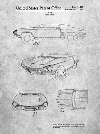 1962 Chevrolet Covair Super Spyder Concept Patent Print