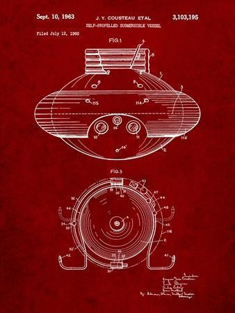 Jacques Cousteau Submersible Vessel Patent