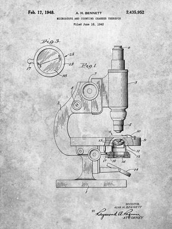 Antique Microscope Patent