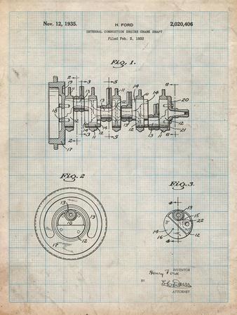 Combustion Engine Crank Shaft 1933