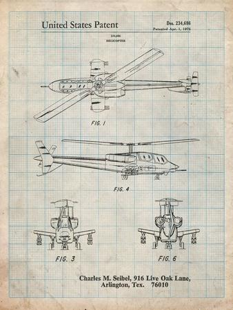 Helicopter Patent Print