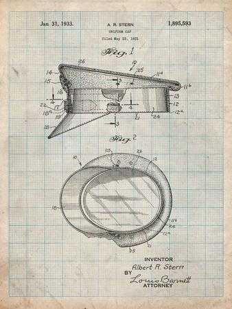 Police Hat 1933 Patent